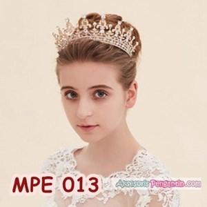 Mahkota Pesta Pengantin Emas l Aksesoris Rambut Wedding Wanita-MPE 013