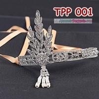 Aksesoris Tiara Pesta Pengantin l Hiasan Sanggul Rambut Ratu - TPP001 Murah 5