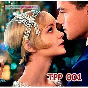 Aksesoris Tiara Pesta Pengantin l Hiasan Sanggul Rambut Ratu - TPP001