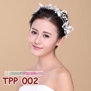 Aksesoris Pesta Pengantin Wanita l Tiara Rambut Pesta Wedding -TPP 002