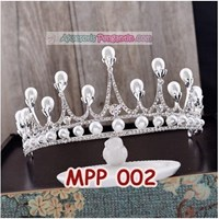 Aksesoris Crown Rambut Pesta Pengantin l Mahkota Wedding Wanita-MPP002 Murah 5