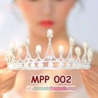 Jual Aksesoris Crown Rambut Pesta Pengantin l Mahkota Wedding Wanita-MPP002 2