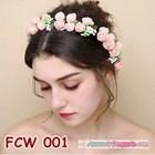 Flower Crown Wedding Modern Pink- Mahkota Bunga Pesta Pengantin-FCW 001 2