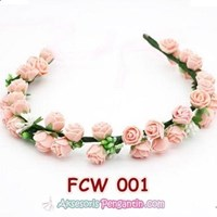 Beli Flower Crown Wedding Modern Pink- Mahkota Bunga Pesta Pengantin-FCW 001 4