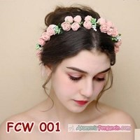 Flower Crown Wedding Modern Pink- Mahkota Bunga Pesta Pengantin-FCW 001 Murah 5