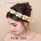 Flower Crown Pesta Pengantin Wanita l Mahkota Bunga Wedding - FCW 002 2