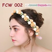 Flower Crown Pesta Pengantin Wanita l Mahkota Bunga Wedding - FCW 002
