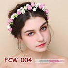 Aksesoris Flower Crown Pesta Wanita l Mahkota Bunga Wedding - FCW 004 4