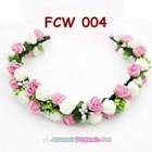 Aksesoris Flower Crown Pesta Wanita l Mahkota Bunga Wedding - FCW 004 3