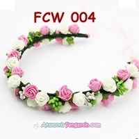 Jual Aksesoris Flower Crown Pesta Wanita l Mahkota Bunga Wedding - FCW 004