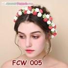 Flower Crown Wedding Merah Putih- Aksesoris Mahkota Bunga Pesta-FCW005 4