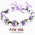 Flower Crown Wedding Ungu Putih l Mahkota Bunga Pesta Pengantin-FCW006 4