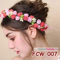 Jual Aksesoris Mahkota Bunga Pesta Pengantin-Flower Crown PreWedding-FCW007