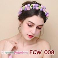 Beli Aksesoris Mahkota Pesta Bunga Pengantin - Flower Crown Wedding Modern -FCW 008 4