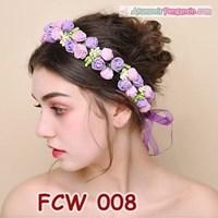 Aksesoris Mahkota Pesta Bunga Pengantin - Flower Crown Wedding Modern -FCW 008 1