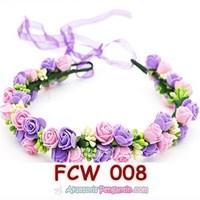 Aksesoris Mahkota Pesta Bunga Pengantin - Flower Crown Wedding Modern -FCW 008 Murah 5