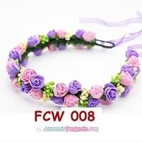 Distributor Aksesoris Mahkota Pesta Bunga Pengantin - Flower Crown Wedding Modern -FCW 008 3