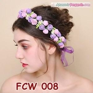 Aksesoris Mahkota Pesta Bunga Pengantin - Flower Crown Wedding Modern -FCW 008