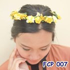 Flower Crown Kuning Pesta Pengantin l Aksesoris Mahkota Bunga - FCP 007 3