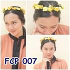 Flower Crown Kuning Pesta Pengantin l Aksesoris Mahkota Bunga - FCP 007 1