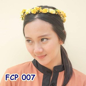 Flower Crown Kuning Pesta Pengantin l Aksesoris Mahkota Bunga - FCP 007