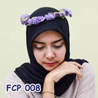 Flower Crown Pesta Ungu Pengantin l Mahkota Bunga Wedding - FCP 008 2