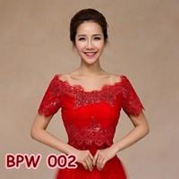 Beli Bolero Pesta Pengantin Wanita l Cardigan Lace Wedding Merah - BPW 002 4