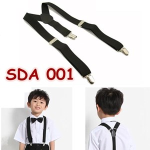 Suspender Pesta Hitam Anak Aksesoris Baju Bretel SDA 001