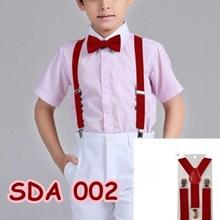 Suspender Pesta Merah Anak Pria Wanita  Aksesoris Baju Bretel SDA 002