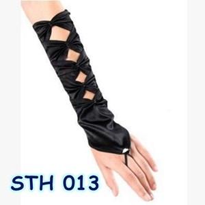 Sarung Tangan Hitam Wanita l Aksesoris Pengantin Gloves- STH 013