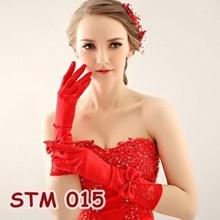 Sarung Tangan Merah Pernikahan l Aksesoris Wedding Pengantin - STM015