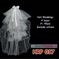 Aksesoris Slayer Pengantin Wanita 4 Layer l Slayer Veil Wedding- HRP 017