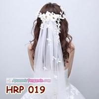 Slayer Rambut Pengantin Bunga Modern- Aksesoris Kerudung Wedding- HRP 019