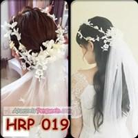 Jual Slayer Rambut Pengantin Bunga Modern- Aksesoris Kerudung Wedding- HRP 019