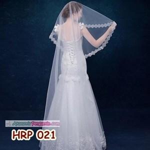 Slayer Pengantin Payet Panjang l Kerudung Rambut Wedding Modern- HRP 021