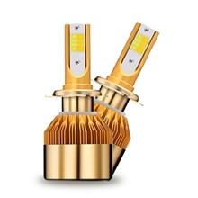 Lampu Mobil LED H11 Headlight 35 Watt - Gold 3 Warna