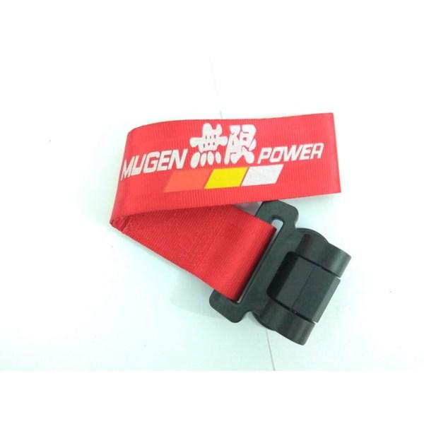 Dummy Towing Strap MUGEN MERAH - Towing Hook Stylish Universal - Towing Strep - Towing Racing