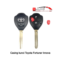 Casing Kunci Toyota - Cover Kunci Fortuner Innova Yaris Vios 3 Tombol