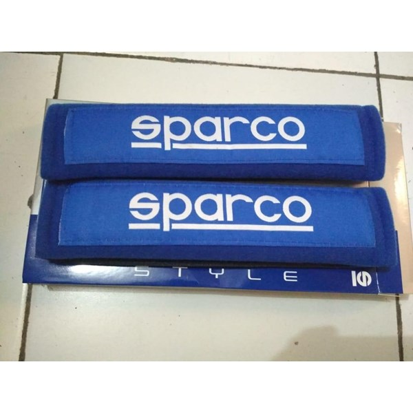 Seatbelt Pad Biru Racing Sport - Seat Belt Spar - Bantalan Universal