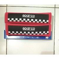 Seatbelt Pad Merah Hitam Catur Racing Sport - Seat Belt Sparco Universal 1