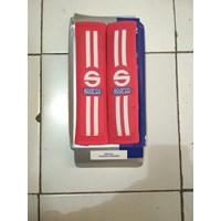 Seatbelt Pad Merah Garis Dua Racing Sport - Seat Belt Sparco Universal 1