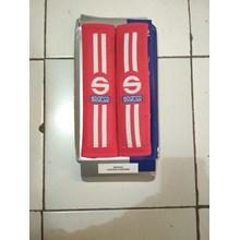 Seatbelt Pad Merah Garis Dua Racing Sport - Seat Belt Sparco Universal