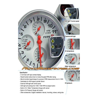 sell tachometer type r 5 inch takometer type r 4in1 from indonesia