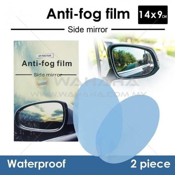 Anti Fog Film For Side - Rear Mirror Anti Embun Spion Mobil 14 X 9 Cm Lonjong