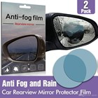 Anti Fog Film For Side - Spion Mobil Anti Embun 10 X 10 Cm Bulat 1