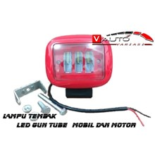 Lampu Tembak LED Sorot KOTAK - Led LENS Gun Tube Kotak MOBIL MOTOR