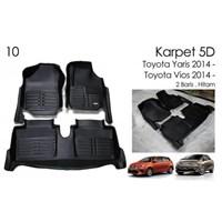 Karpet 5D Mobil Toyota Yaris 2014 - Karpet Mobil Eksclusif 5D Premium