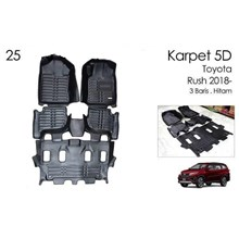 Karpet 5D Mobil All New Rush 2018 - Karpet Mobil Eksclusif 5D Premium
