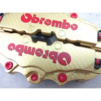 Jual Cover Rem Racing M Gold Carbon - Brem bo Karbon Medium - Disk Sedang 2