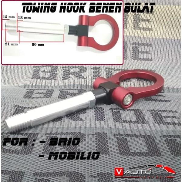 Towing Hook Benen Bulat Brio Mobilio Towing Benen Bulat